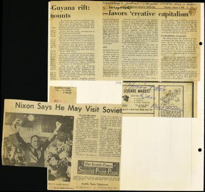 View Record - Governor Daniel J  Evans [Scrapbook 15], 1968